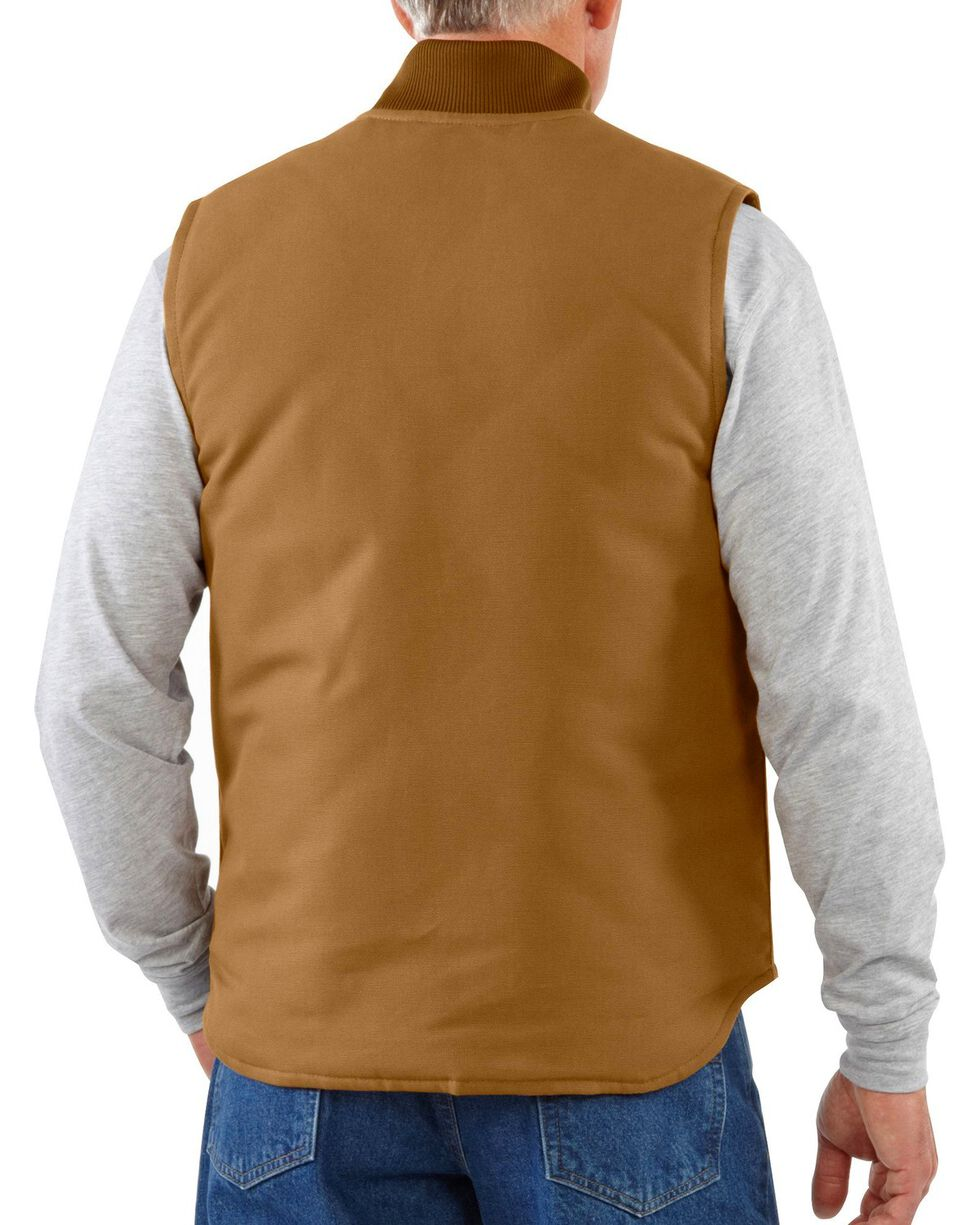 Carhartt Arctic Quilted Canvas Duck Vest - Big & Tall, Brown, hi-res
