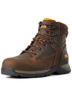 Ariat Men's Edge Lite Waterproof Lace-Up Work Boots - Composite Toe, Brown, hi-res