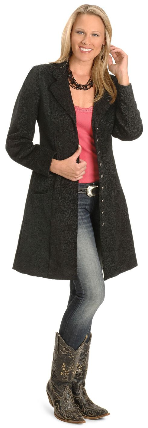Scully Chenille Frock Coat, Black, hi-res