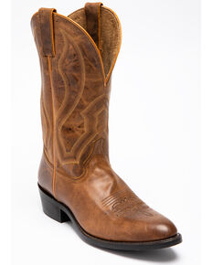 Cody James Men's Justified Western Boots - Round Toe, Tan, hi-res