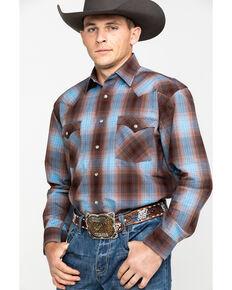 Panhandle Slim Rough Stock Bari Vintage Plaid Snap Western Shirt, Black, hi-res