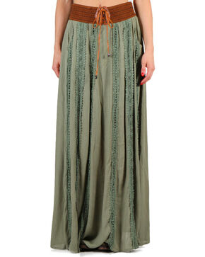 Shyanne Women's Long Peasant Skirt , Olive, hi-res