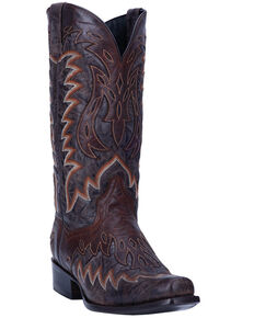 Dan Post Men's Andrew Western Boots - Narrow Square Toe, Chocolate, hi-res