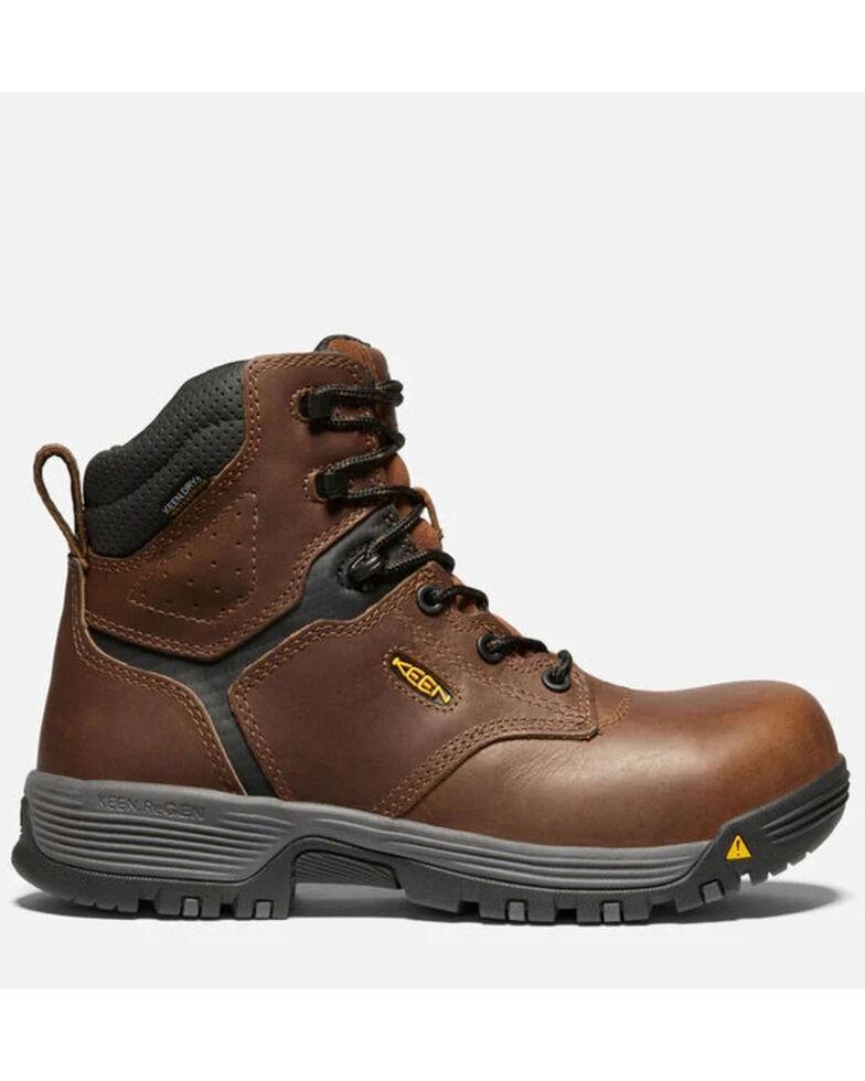 Keen Women's Chicago Waterproof Work Boots - Carbon Toe, Brown, hi-res