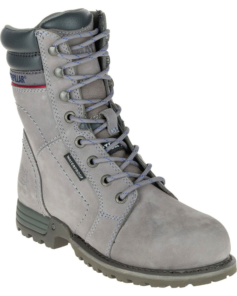Caterpillar Womens Grey Echo Waterproof Work Boots Steel Toe