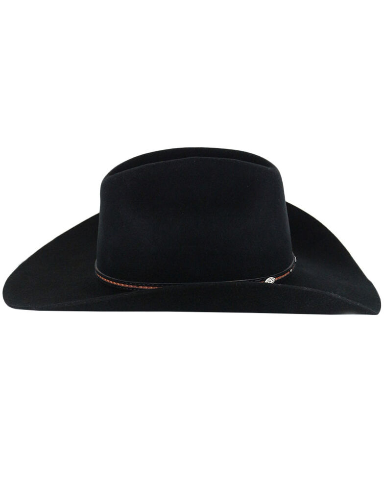 Cody James Men's Lamarie Wool Felt Cowboy Hat, Black, hi-res