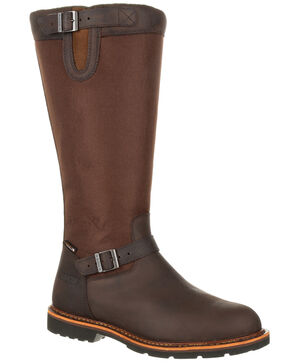 Rocky Men's Great Falls Waterproof Snake Boots - Round Toe, Dark Brown, hi-res