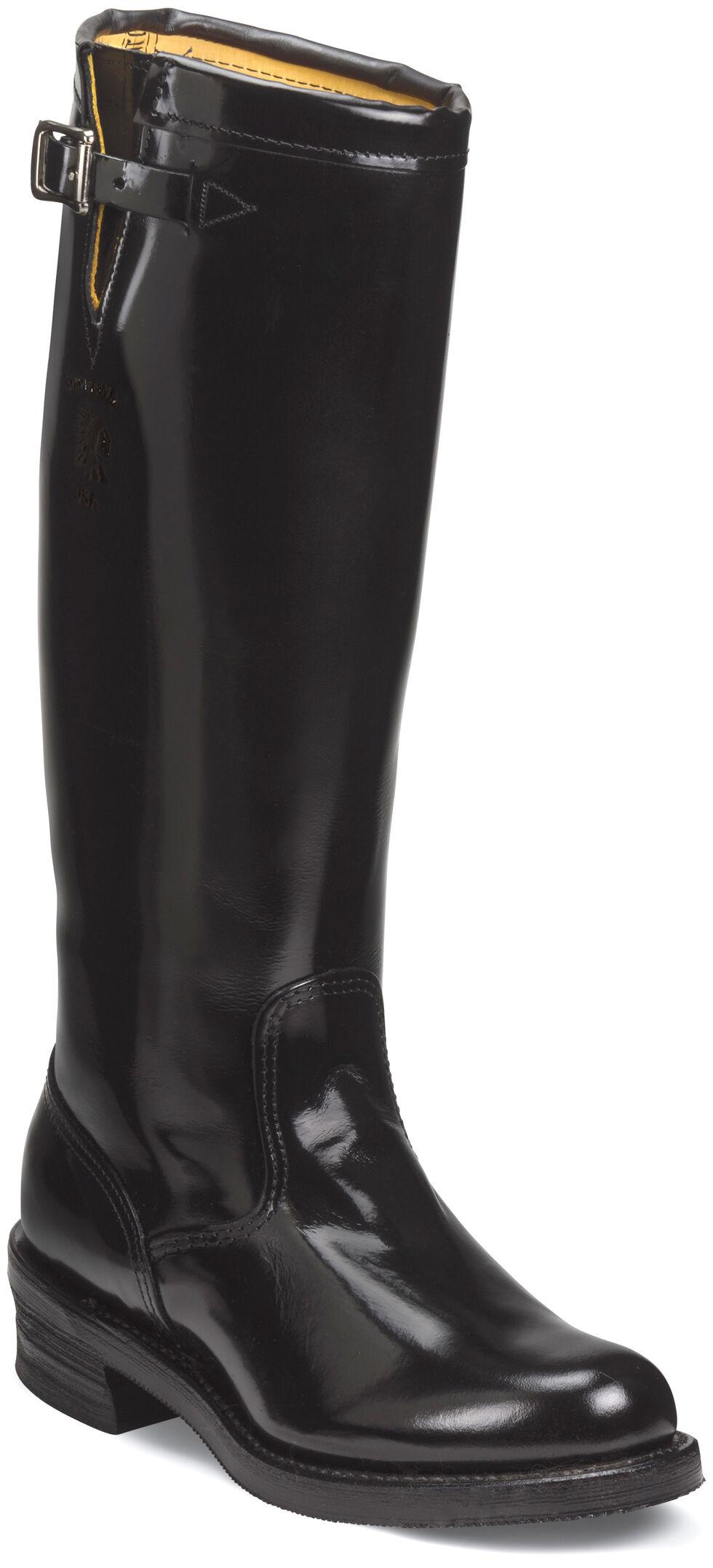 "Chippewa Men's 17"" Strapless Trooper Boots - Round Toe, Black, hi-res"