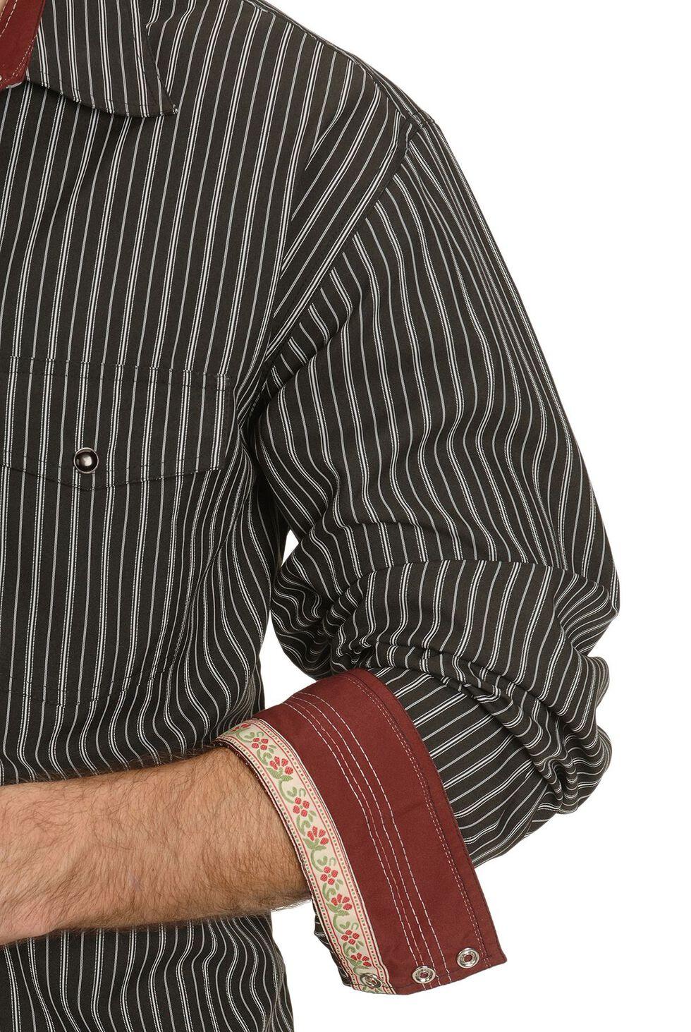 Scully Black Striped Western Shirt, Black, hi-res