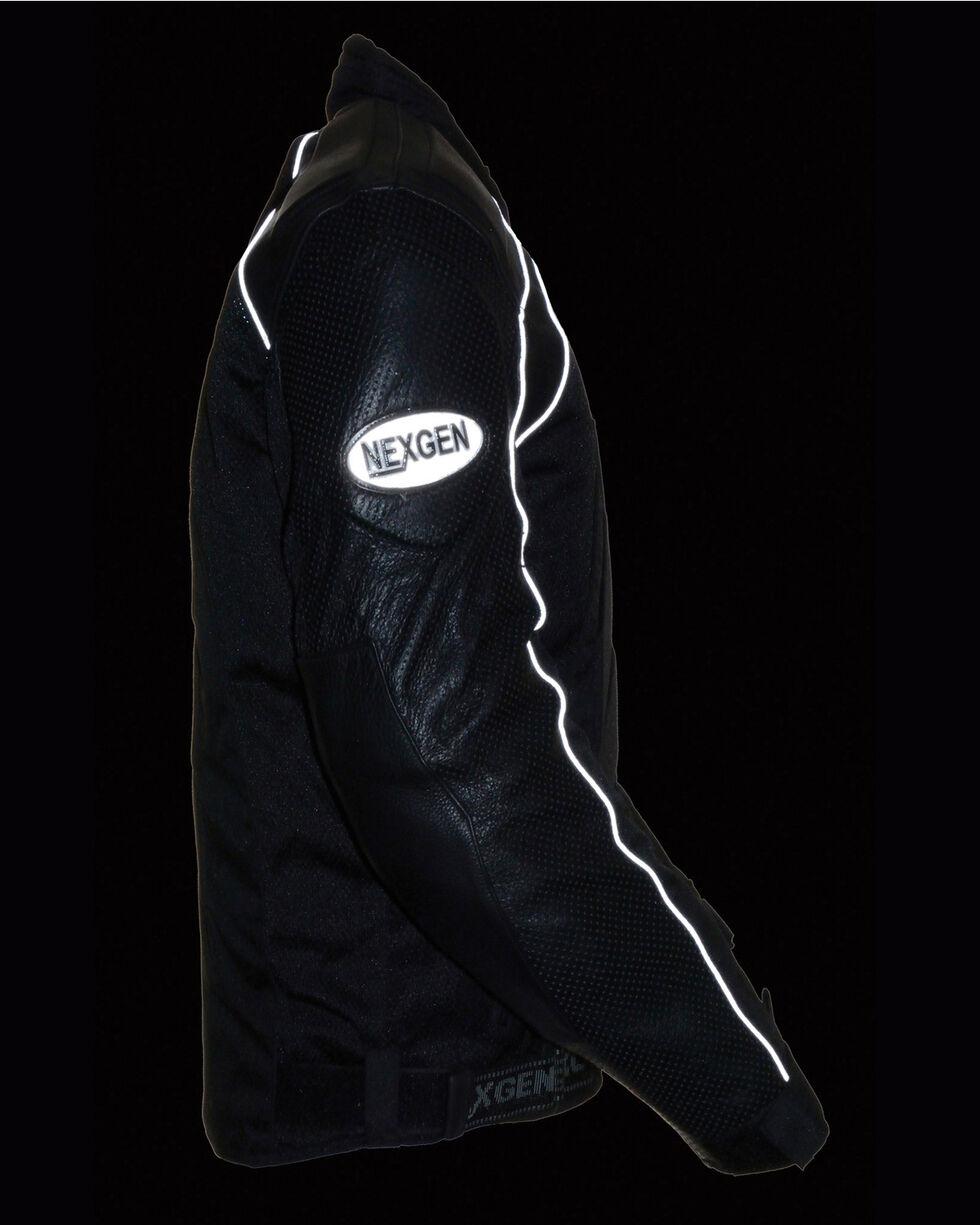 Milwaukee Leather Men's Combo Leather Textile Mesh Racer Jacket - 4X, , hi-res
