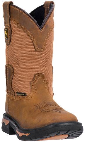 Dan Post Kid's Everest Boots - Square Toe, Brown, hi-res