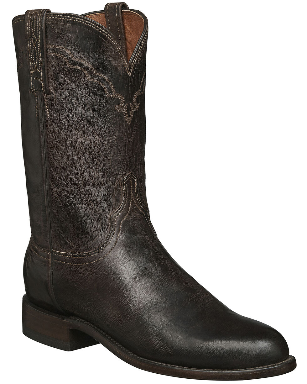 Lucchese 1883 Handcrafted Madras Goat Roper Boots - Round Toe, Chocolate, hi-res