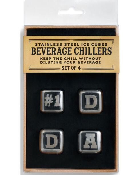 Demdaco Silver #1 Dad Beverage Chiller Set , Silver, hi-res