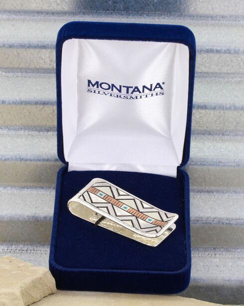 Montana Silversmiths Two Tone Southwestern Unending Trails Money Clip, Silver, hi-res