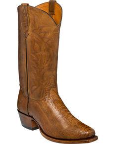 24a250cad65 Tony Lama Mens Sunset Oiled Ostrich Leg Cowboy Boots - Square Toe