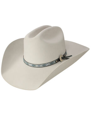 Stetson Silver Fox 6X Felt Cowboy Hat, Light Grey, hi-res