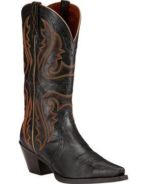 Ariat Women's Heritage Western Boots - Snip Toe, Black, hi-res