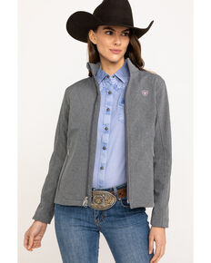 Ariat Women's Journey Softshell Zip Front Jacket , Grey, hi-res