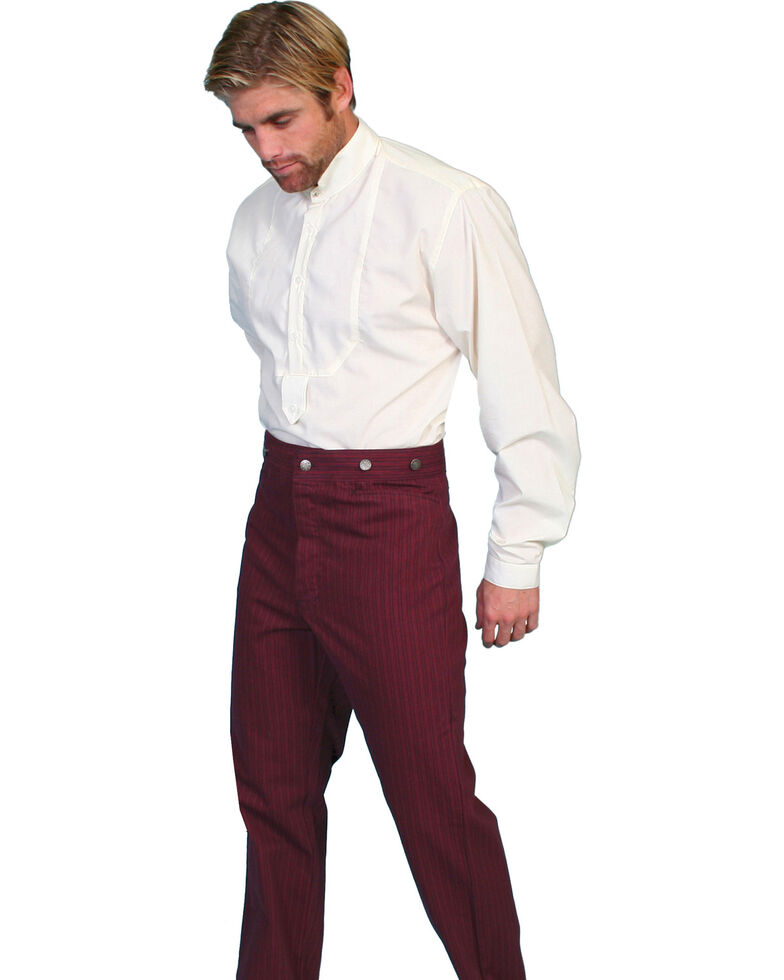 Scully Rail Striped Pants - Big & Tall, Burgundy, hi-res