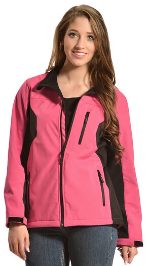 Red Ranch Women's Bonded Hot Pink Jacket, Black, hi-res