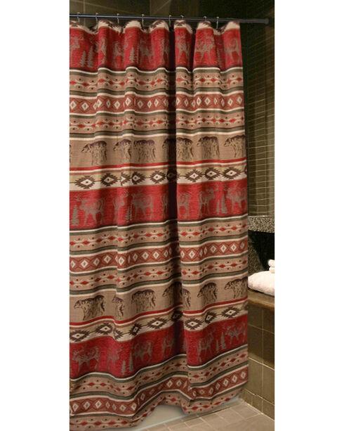 Carstens Adirondack Shower Curtain, Red, hi-res