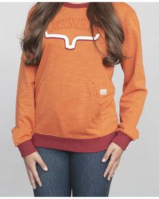 Kimes Ranch Women's Upside Logo Crew Neck Pullover, Peach, hi-res