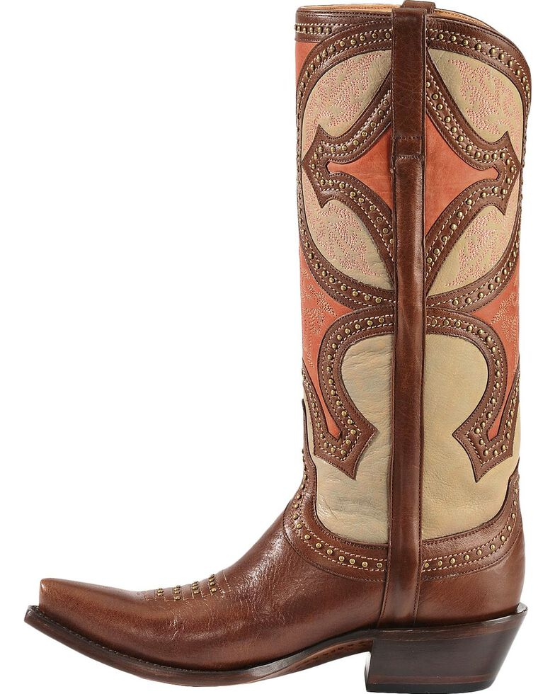 Lucchese 1883 Leila Cowgirl Boots - Snip Toe, Whiskey, hi-res