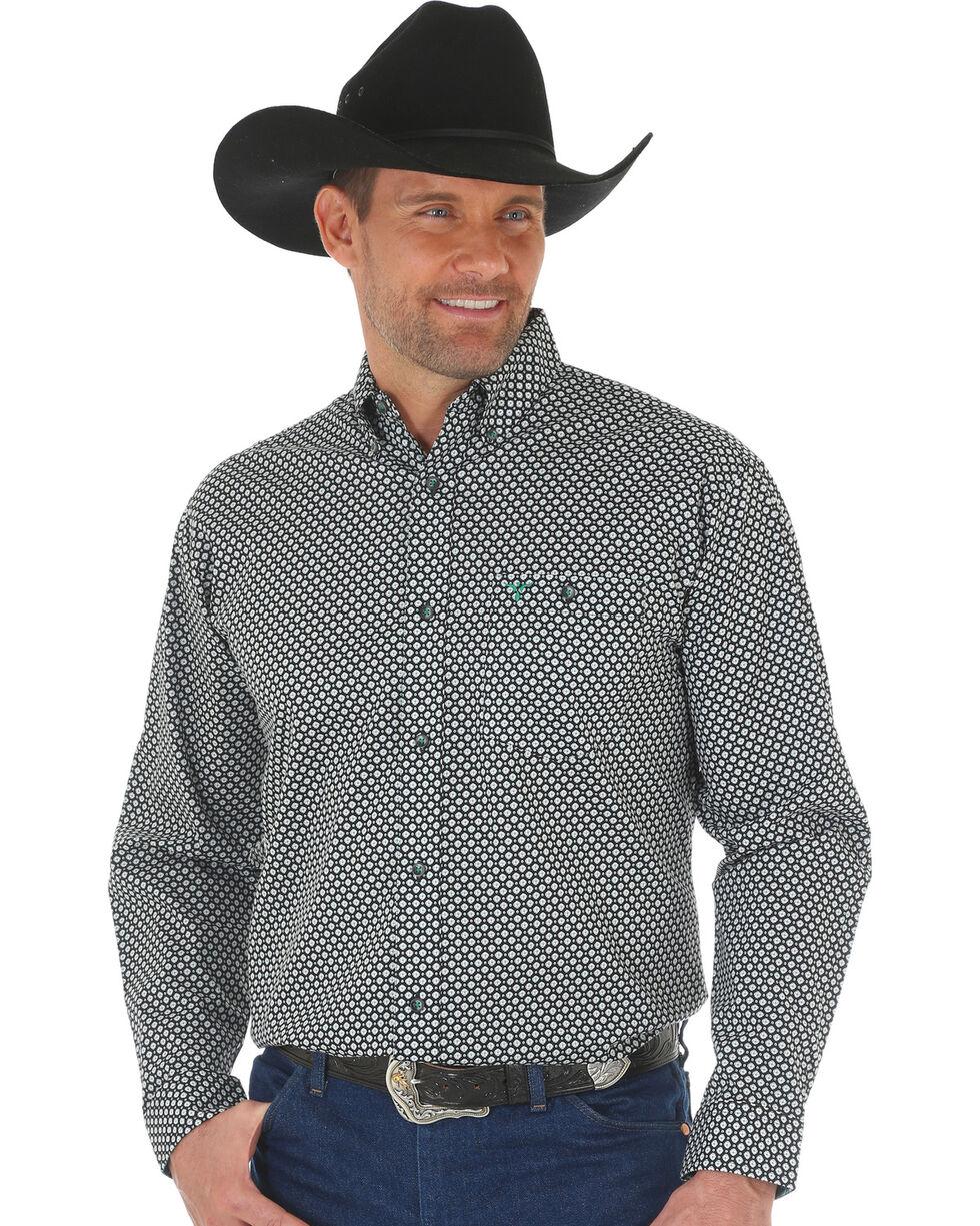 Wrangler 20X Men's Green/Black Advanced Comfort Competition Shirt, Green, hi-res