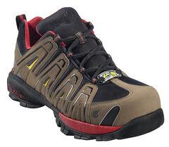 Nautilus Men's Static Dissipative Work Shoes - Composite Toe, Olive, hi-res