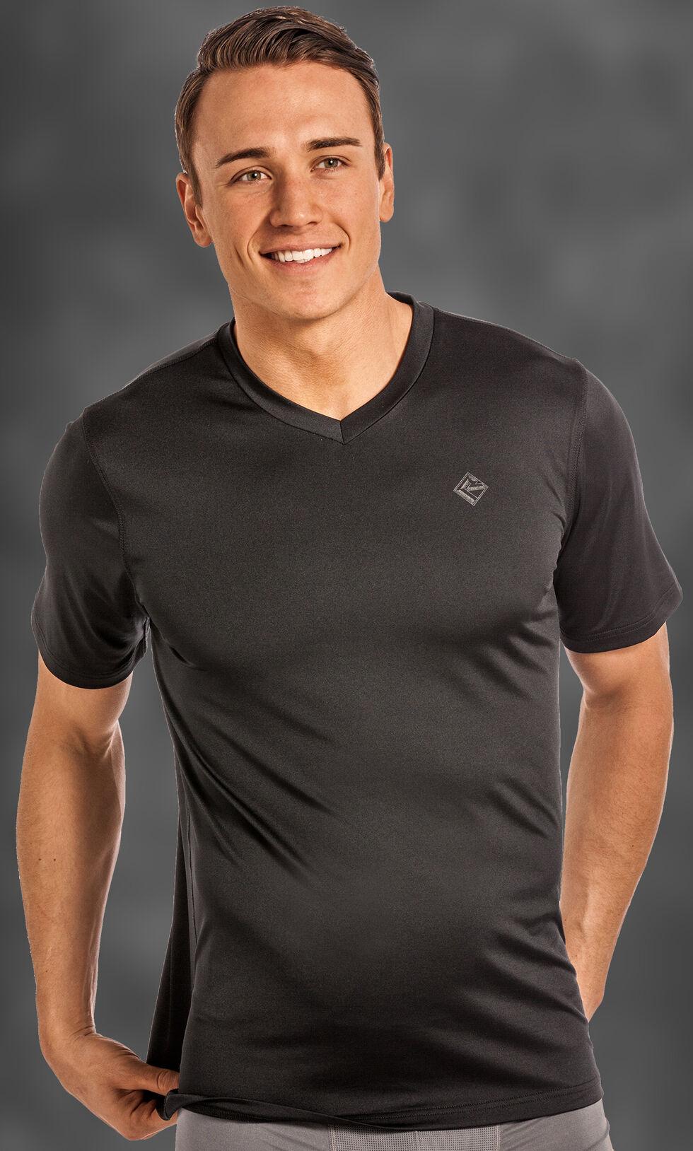 Rock and Roll Cowboy Men's Black V-Neck T-Shirt , Black, hi-res
