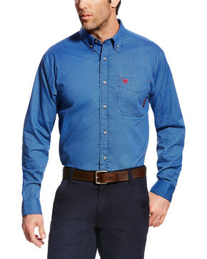 Ariat Men's FR Burleigh Long Sleeve Print Work Shirt - Big & Tall, Multi, hi-res
