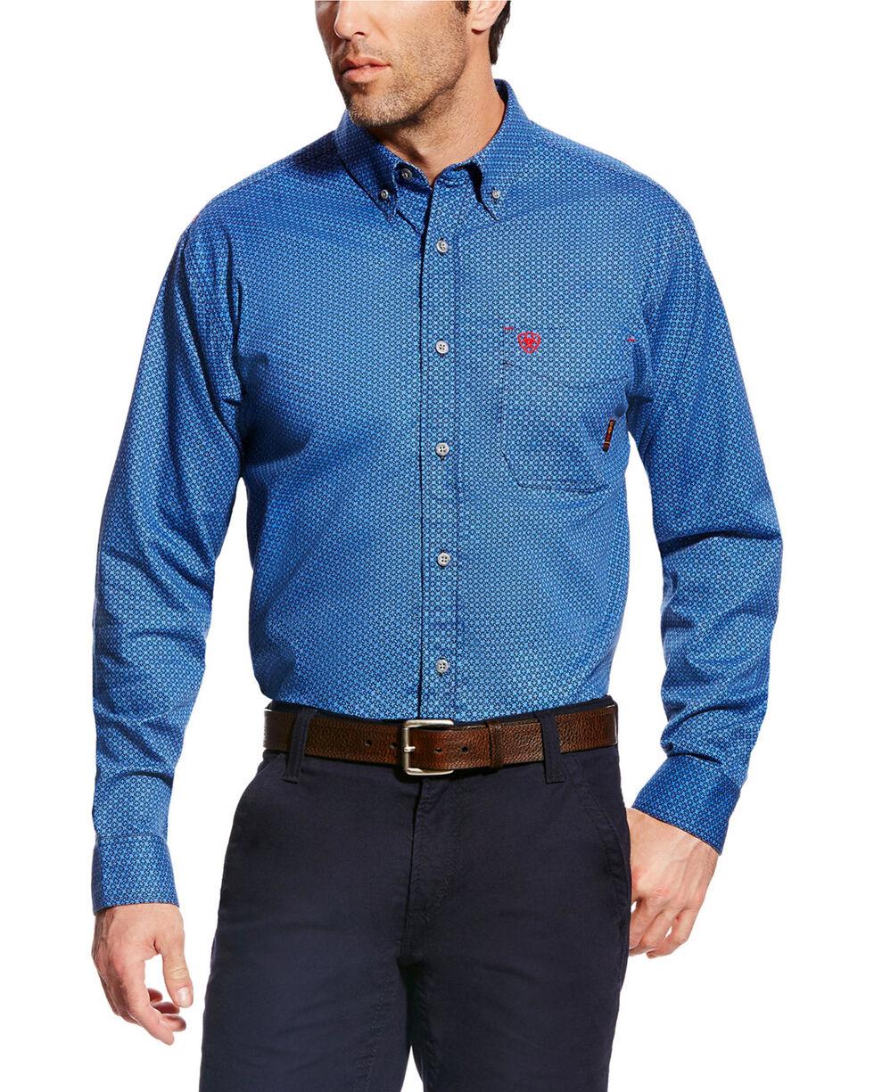 Ariat Men's FR Burleigh Long Sleeve Print Work Shirt - Big & Tall, Multi, hi-res