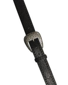 AndWest Men's Black Twisted Lace Belt, Black, hi-res