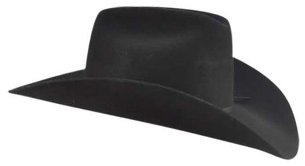 Bailey Western Stampede Cattleman Crown Cowboy Hat, Black, hi-res