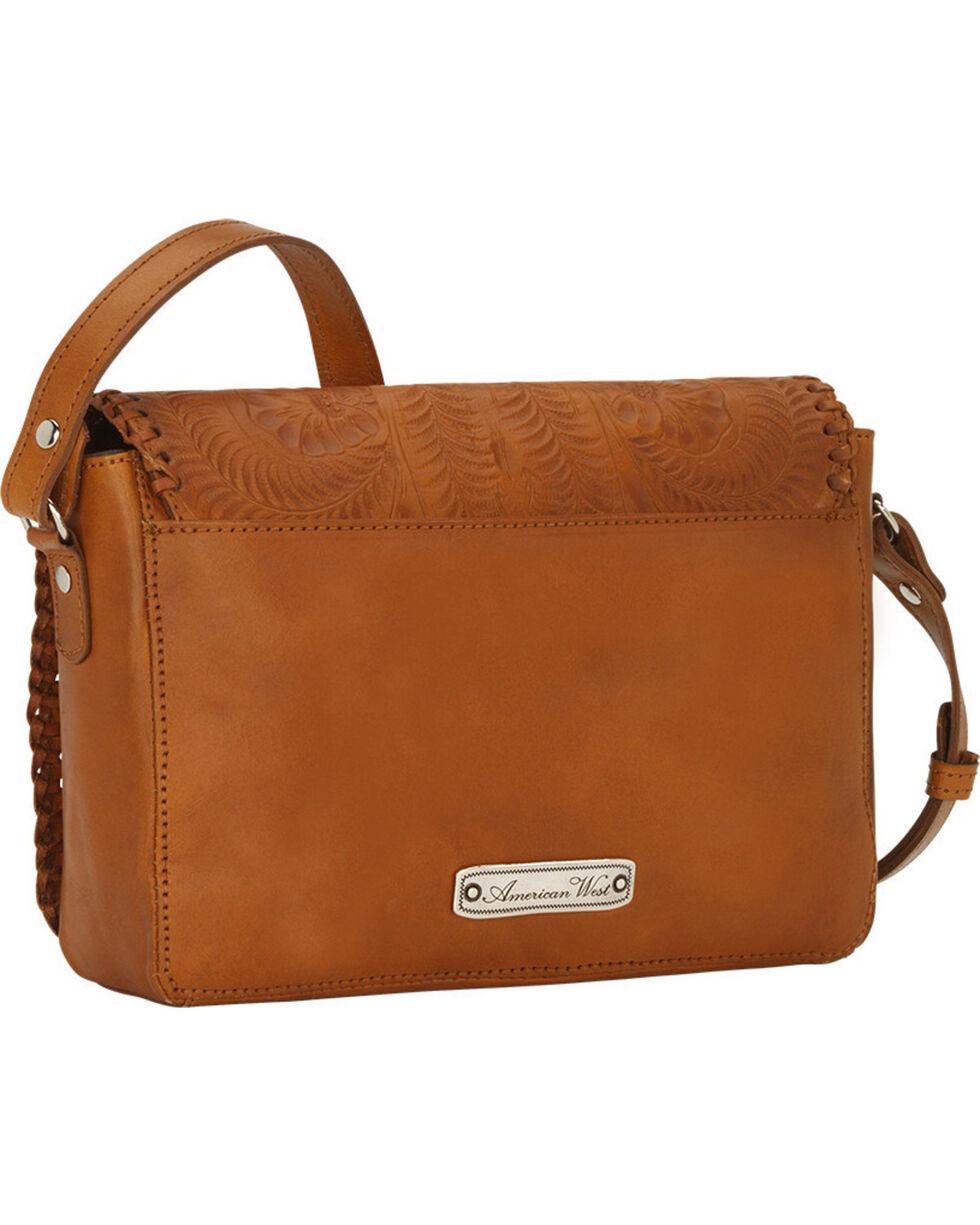 American West Women's Lariat Love Crossbody Flap Bag/Wallet , Tan, hi-res