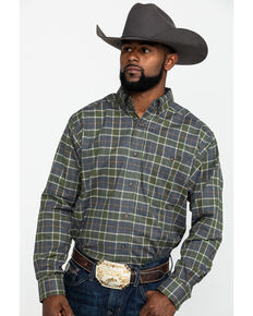Ariat Men's Eldridge Performance Flannel Long Sleeve Western Shirt , Multi, hi-res