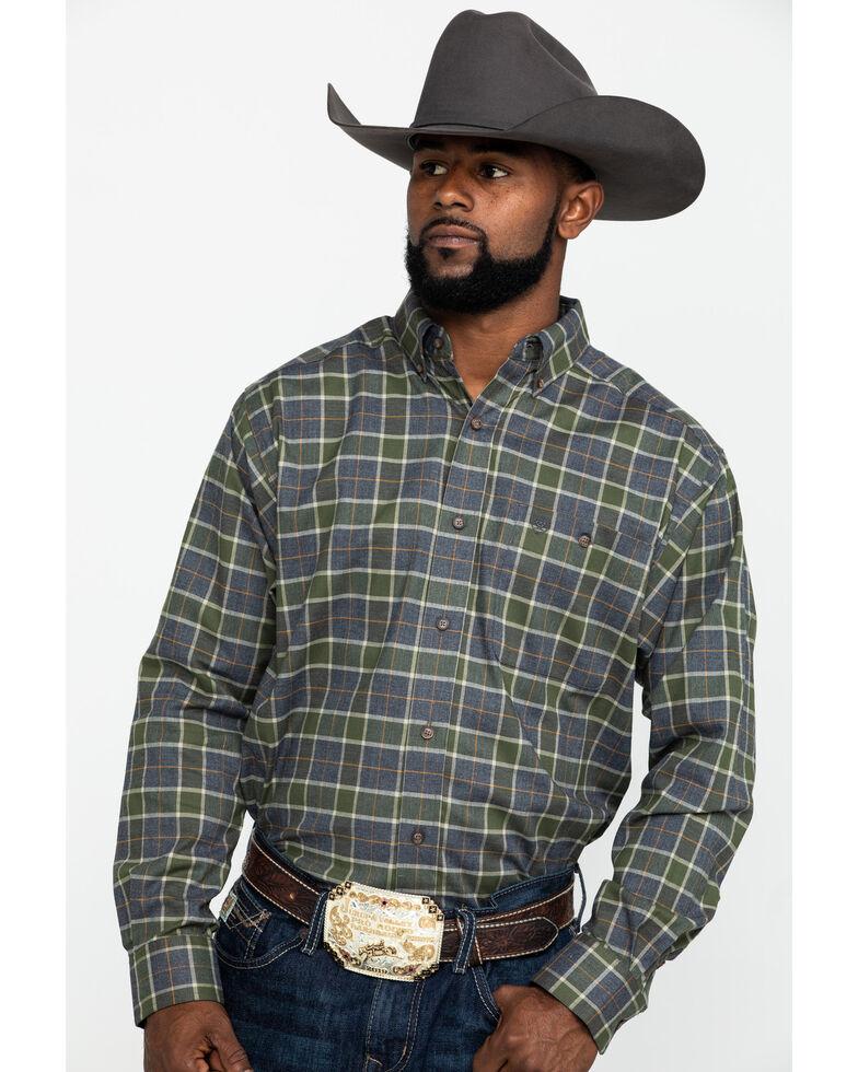 Ariat Men's Eldridge Performance Flannel Long Sleeve Western Shirt , Multi, hi-res