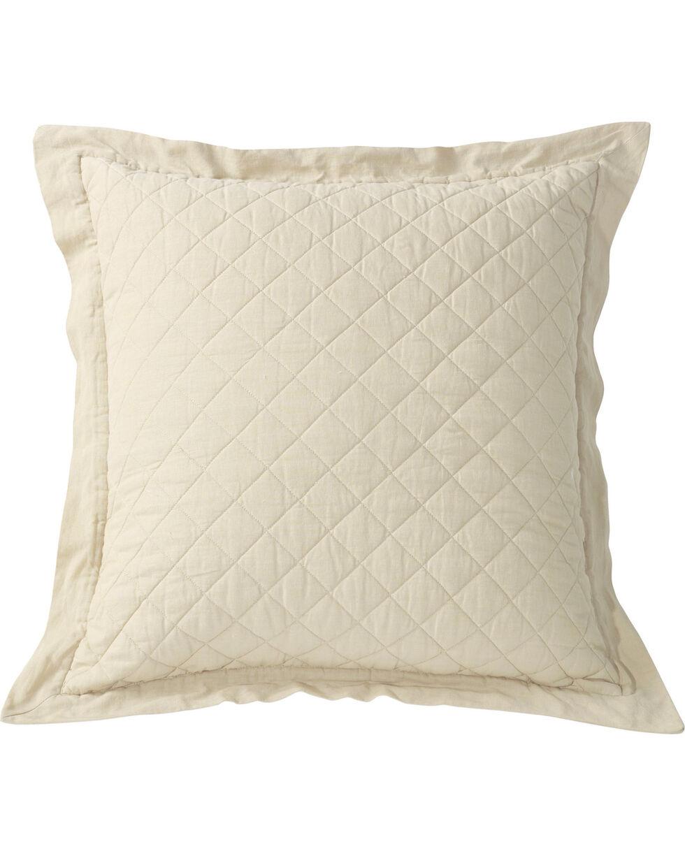 HiEnd Accents Diamond Pattern Quilted Cream Euro Sham, Cream, hi-res