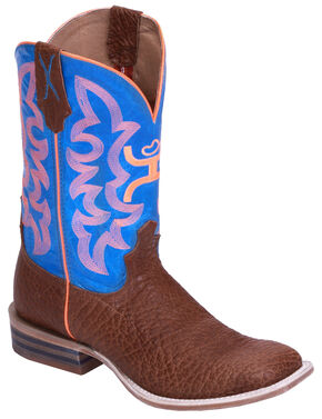 Twisted X Boys' Neon Cowboy Boots - Wide Square Toe, Cognac, hi-res