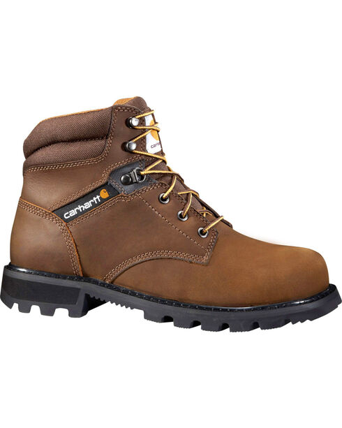 "Carhartt Men's 6"" Lace Up Work Boots - Round Toe, Dark Brown, hi-res"