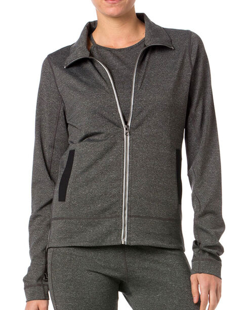Miss Me Women's Double Zippered Jacket, Grey, hi-res