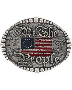 Cody James Men's Silver We The People Belt Buckle , Silver, hi-res