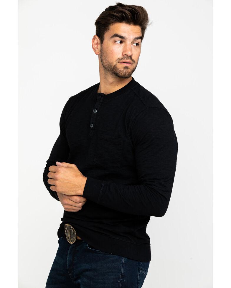 Moonshine Spirit Men's Tacoma Distressed Wash Pullover Long Sleeve Shirt , Black, hi-res