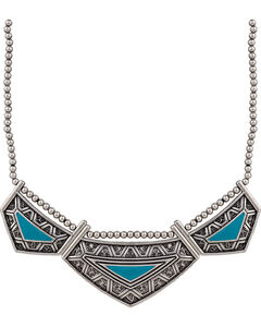 Wrangler Rock 47 Points of Aztec Turquoise Collar Necklace, Turquoise, hi-res