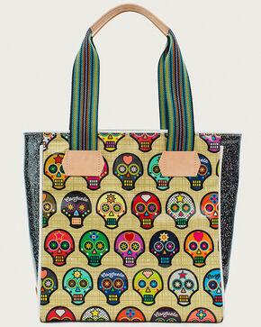 Consuela Women's Legacy Sugar Skulls Classic Tote, Beige/khaki, hi-res