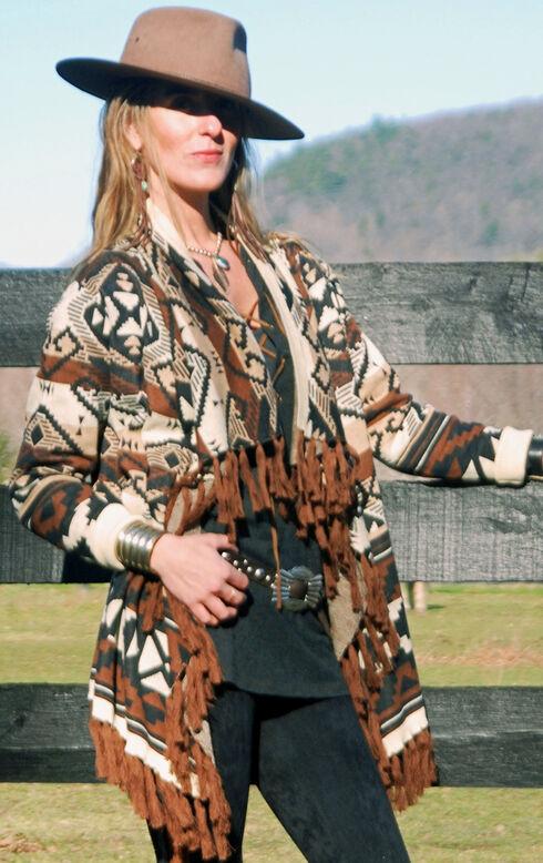 Tasha Polizzi Women's Azteca Blanket Cardigan, Black, hi-res