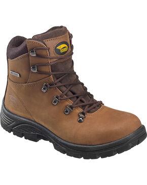 "Avenger Men's Waterproof 6"" Lace-Up Work Boots - Steel Toe, Brown, hi-res"