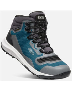 Keen Women's Tempo Flex Waterproof Hiking Boots - Soft Toe, Blue/white, hi-res