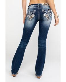9068d100181 Miss Me Womens Dark Camo Cross Bootcut Jeans , Blue, hi-res