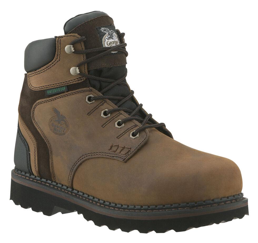 "Georgia Brookville Waterproof 6"" Work Boots, Dark Brown, hi-res"